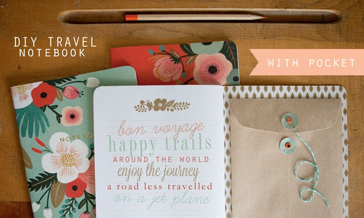 Travel notebook with a keepsake pocket