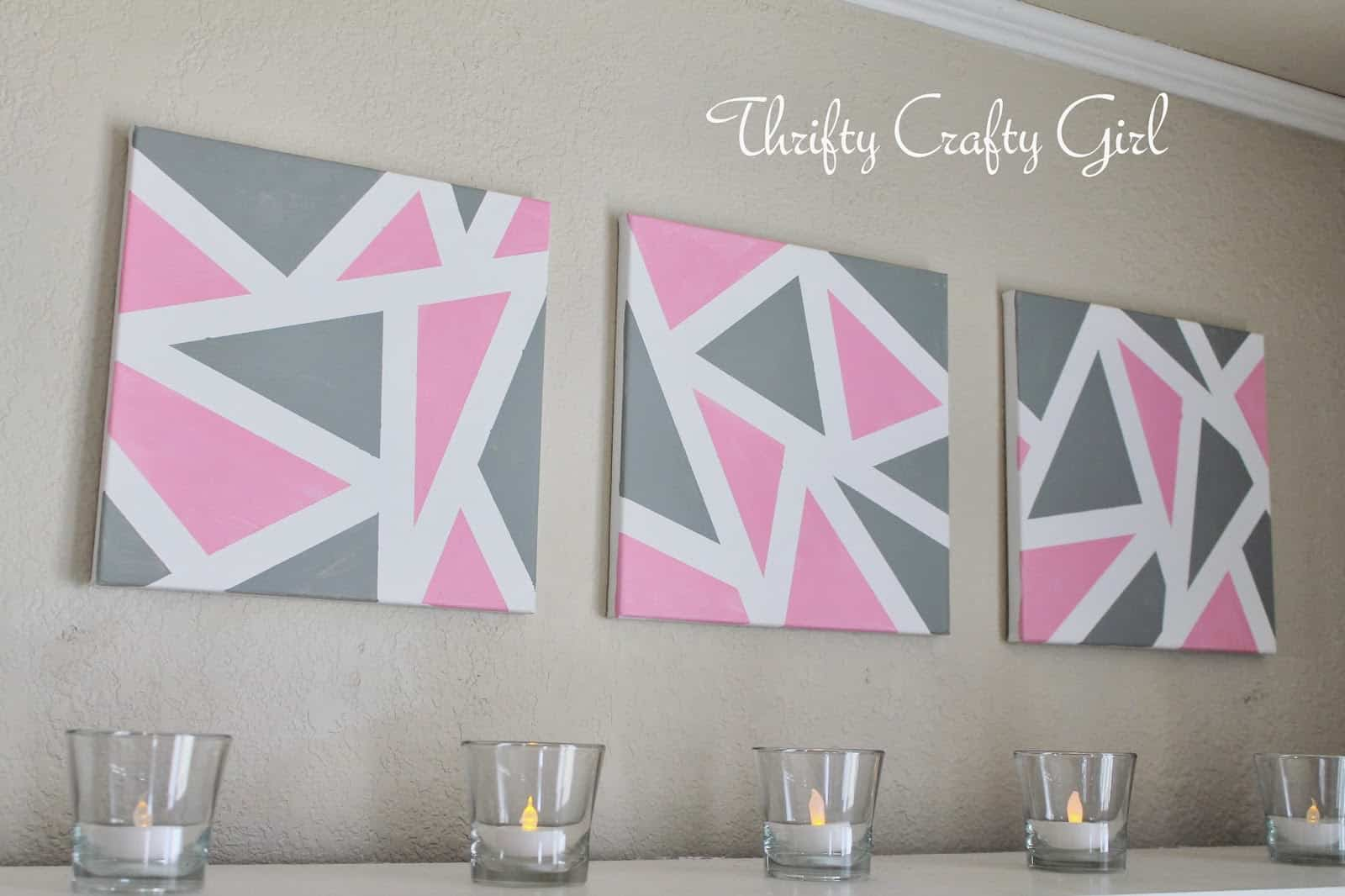 Triangular canvas art