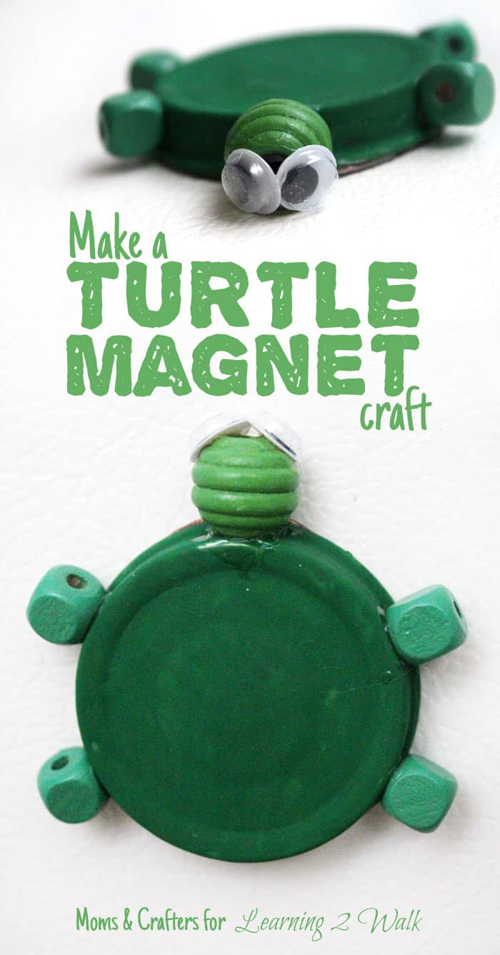Turtle magnet with bead features