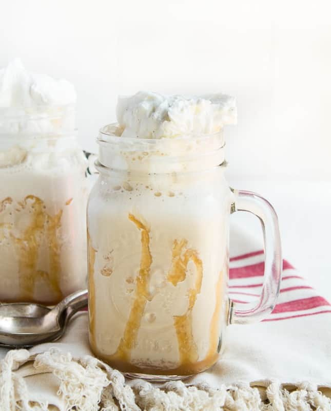 Vanilla iced coffee frappe
