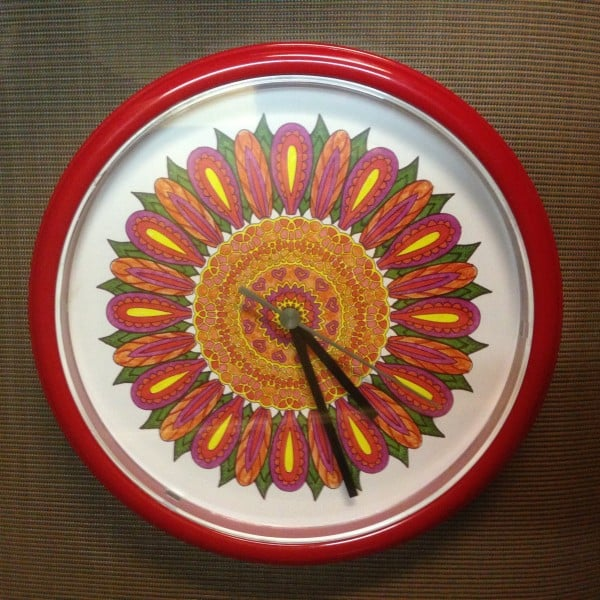 adult coloring book clock