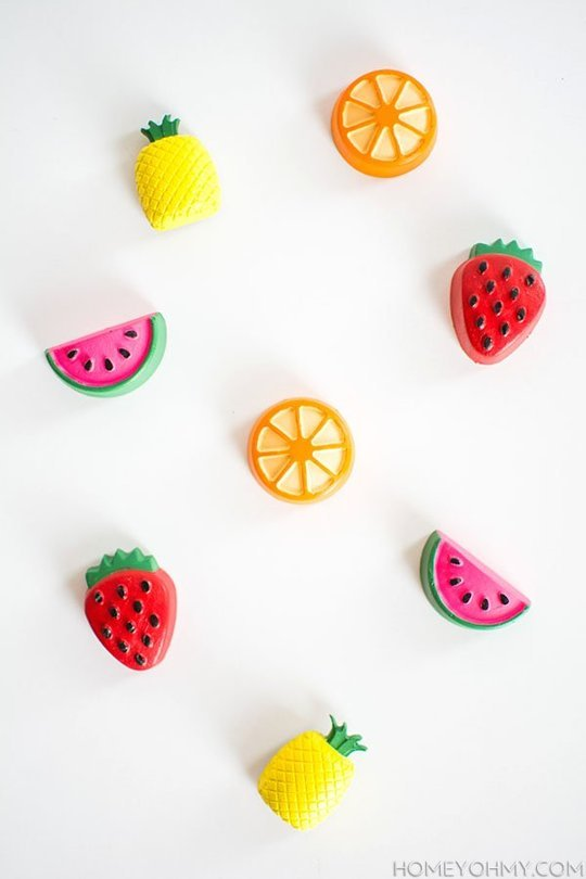 mini fruit magnets