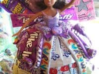 Barbie candy dress cake 200x150 Tasty Treats: 10 Delicious Candy Crafts