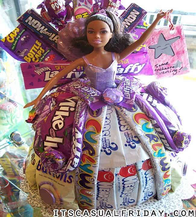 Barbie candy dress cake