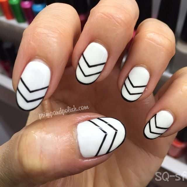 Black and white double chevron