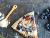 Blueberry pizza with whipped ricotta and caramelized shallots 200x150 Recipes That Are Perfect for Blueberry Fanatics