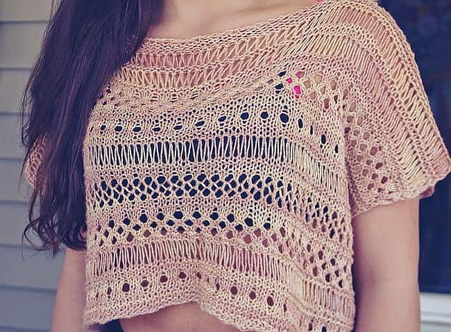 Boxy Lace Knit Top