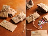 Confetti envelope business cards 200x150 15 DIY Business Card Designs You'll Want to Try Immediately