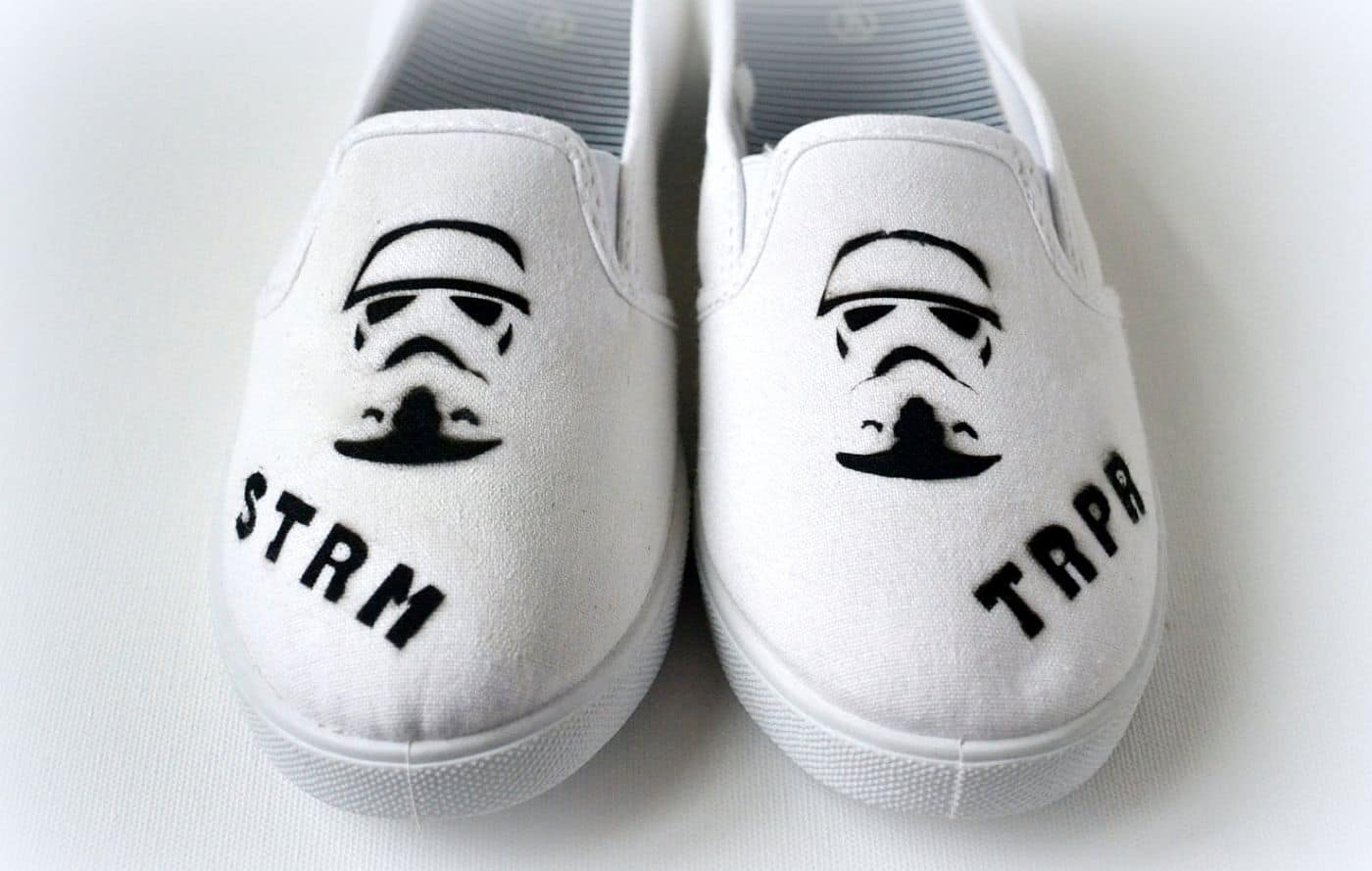 Cool Star Wars airbrushed shoes
