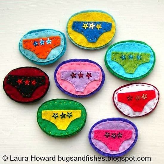 DIY Lucky underpants patches