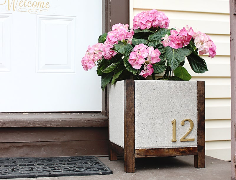 DIY Paver Planter Tutorial