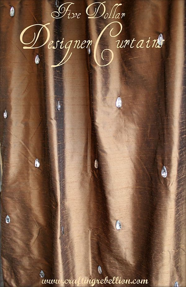 DIY Rhinestoned curtains