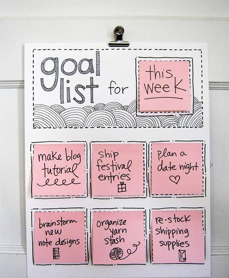 DIY Sticky note to-do list