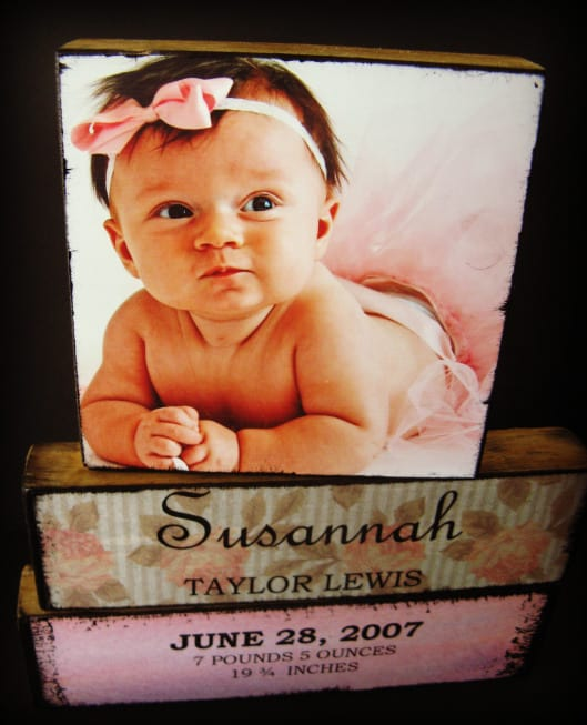 DIY decoupage photo blocks