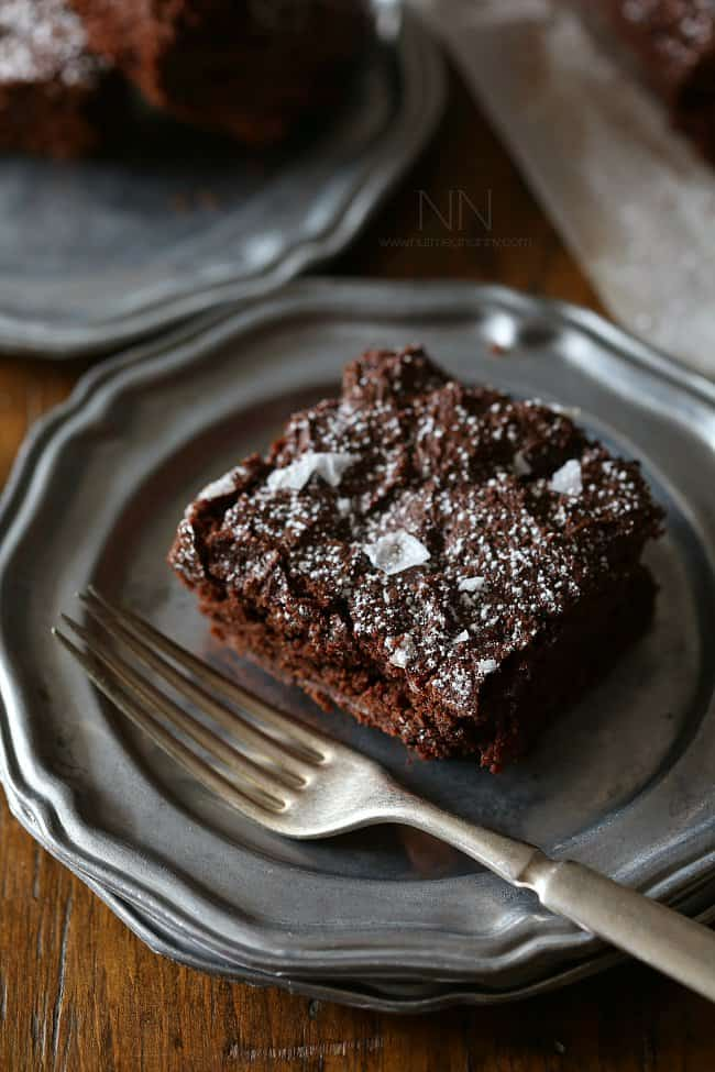 Dark chocoalte yogurt brownies
