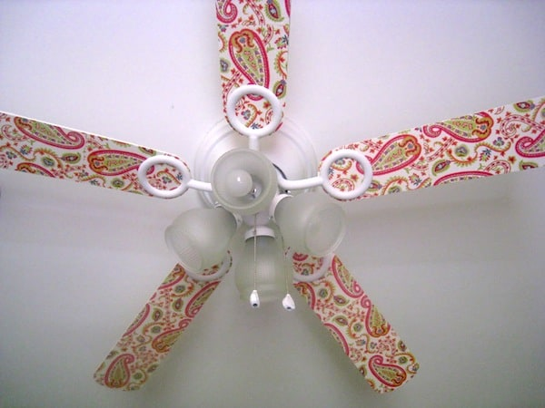 Decoupage ceiling fan