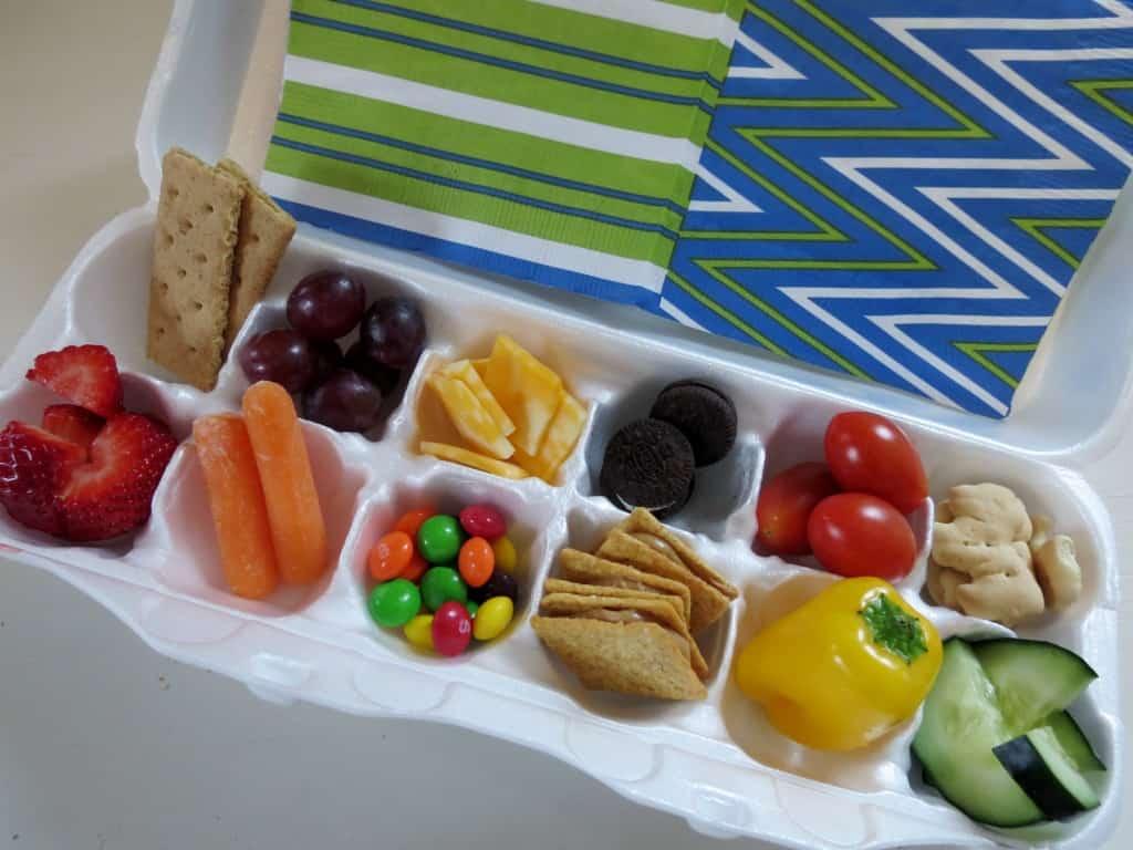 Pack Snacks for Little Ones in an Egg Carton