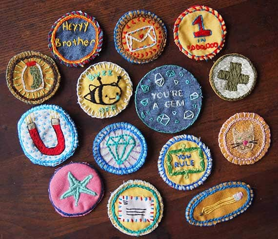 Embroidered patch pins