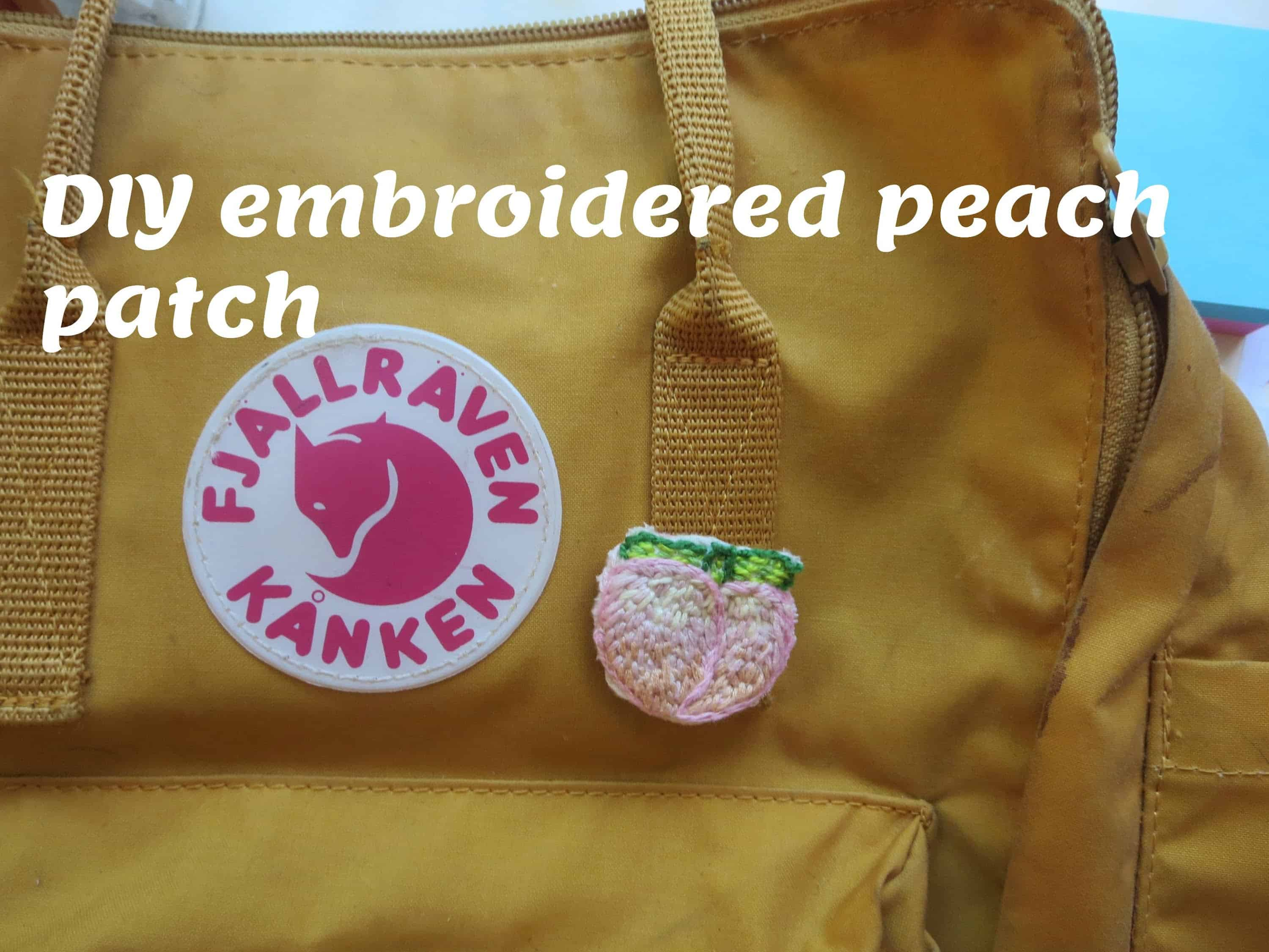 Emrboidered peach patch