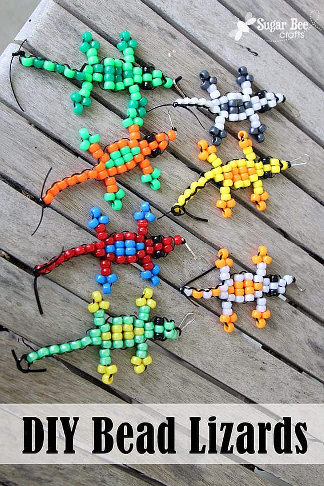 Fun beaded lizards