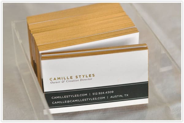 GIlded business cards