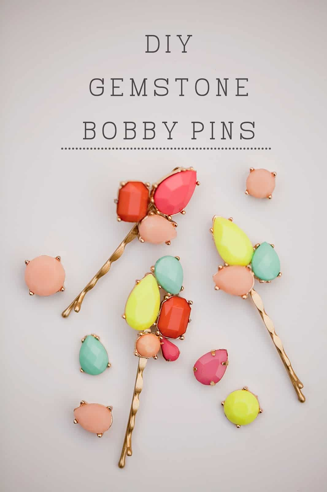 Gemstone bobby pins