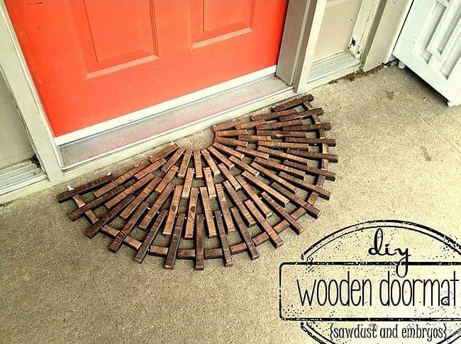 Half Circle Wooden Doormat