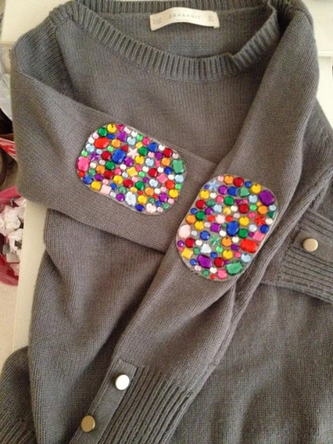 Jewelled elbow patches