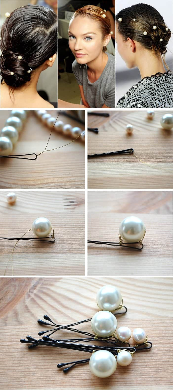 Mermaid pearl bobby pins