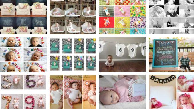 Idéias para fotos mensais de bebês 15 idéias lindas para fotos mensais de bebês (criar memórias)