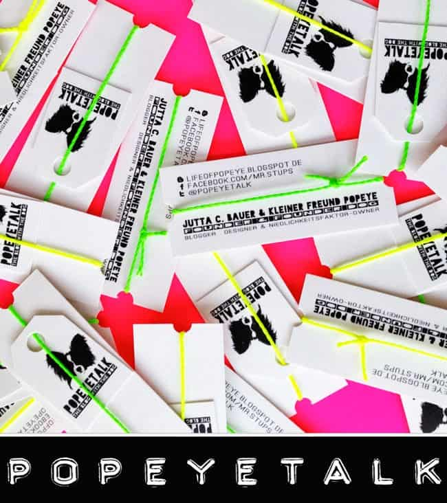 Neon-accented business cards