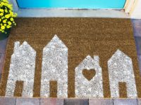 Painted House Doormat 200x150 Make Your Guests Feel Welcome With These 10 DIY Doormats
