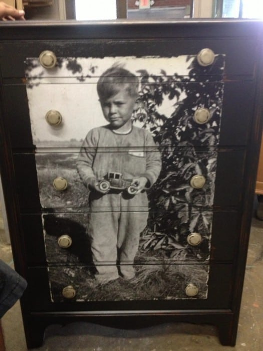 Photo decoupage dresser
