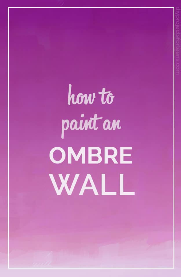 Pink ombre walls