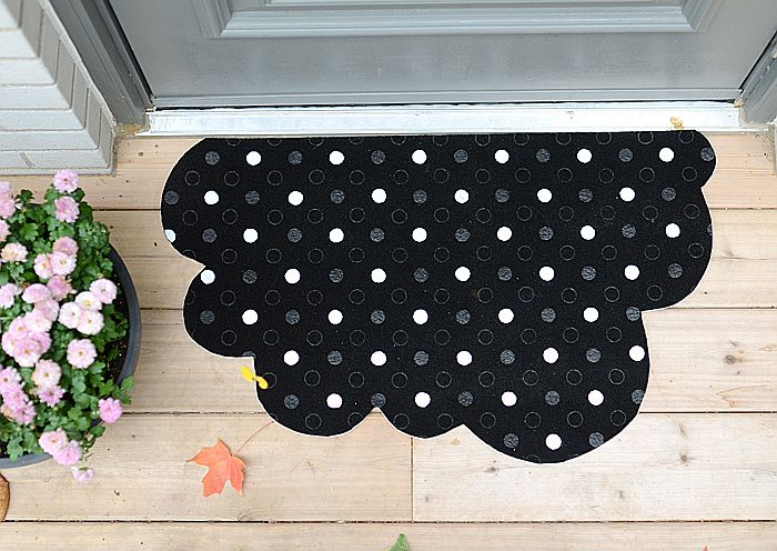 Polka Dot Cloud Doormat
