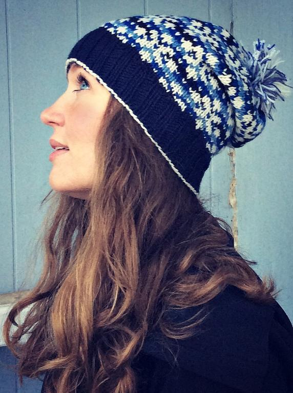Snowflakes at Night hat