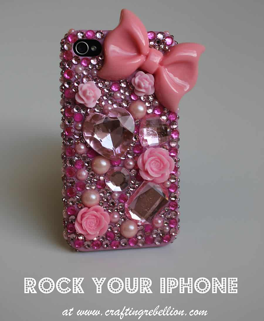 Spunky Rhinestoned iPhone case