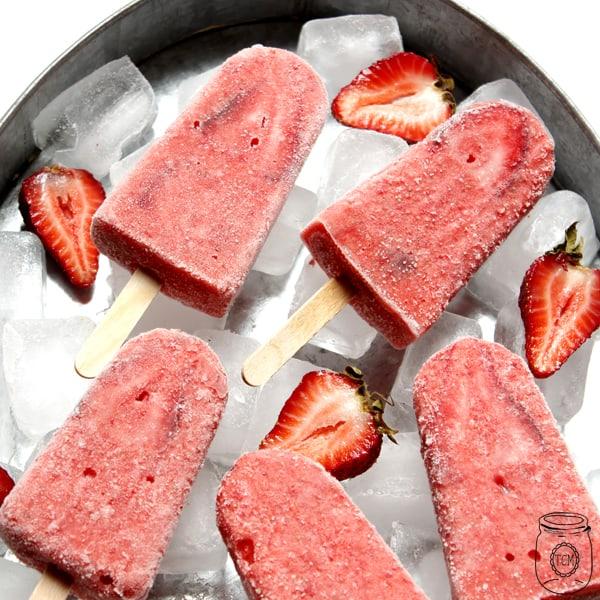 Strawberry Daicquiri Pops