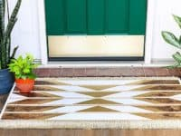 Wooden Doormat with tribal pattern 200x150 Make Your Guests Feel Welcome With These 10 DIY Doormats