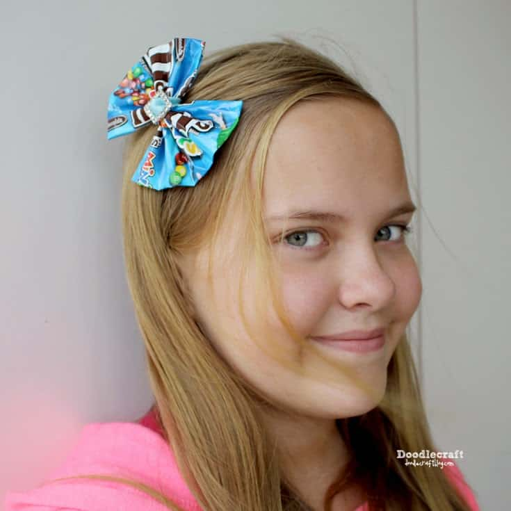 candy wrapper hair bow