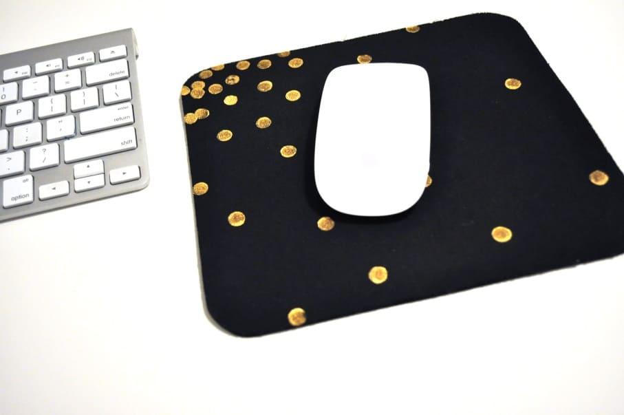 Gold Confetti Mouse Pad