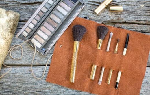 Leather Brush Holder
