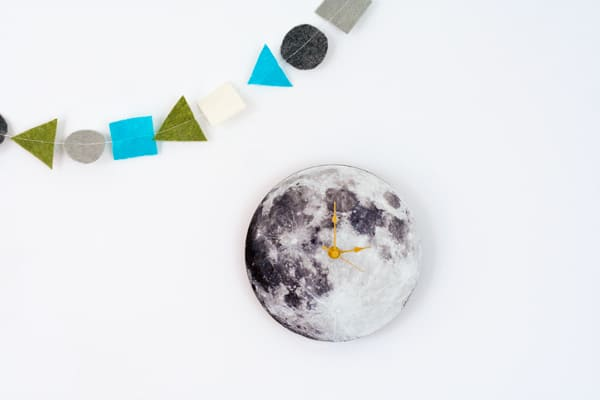 Moon DIY clock