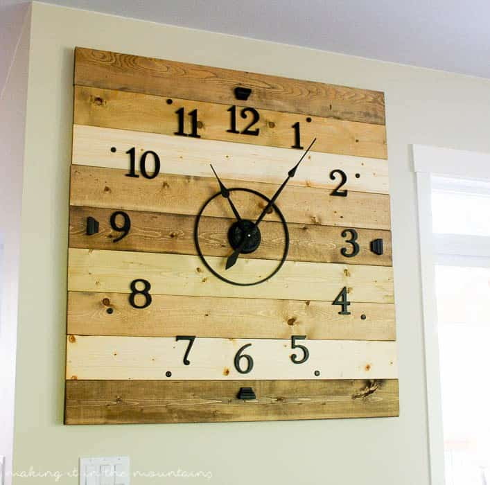 Wood plan clock