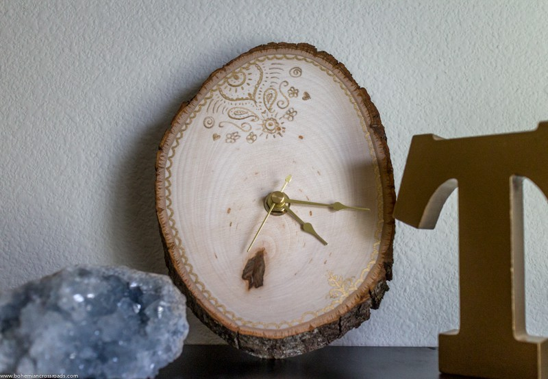 Wood slice clock