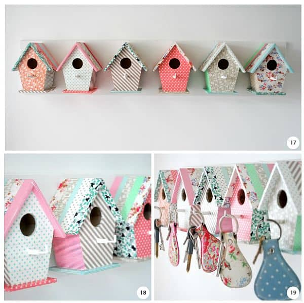 Bird house key rack