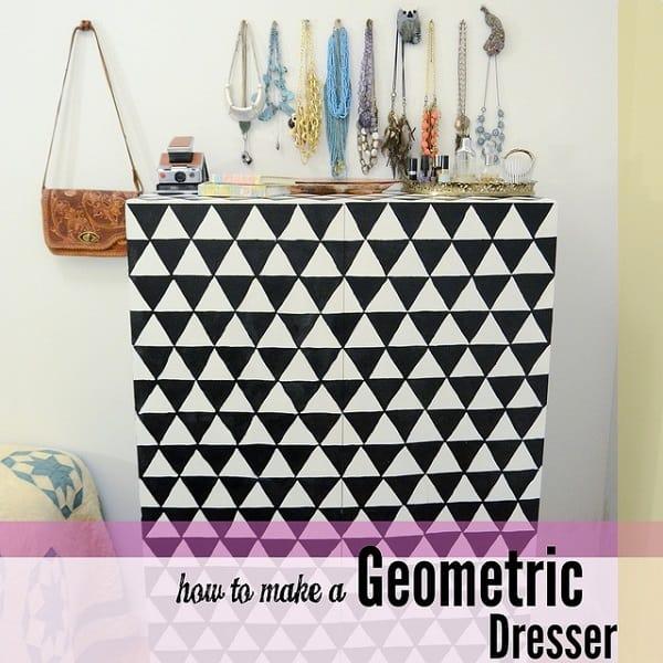 Black and white triangle dresser