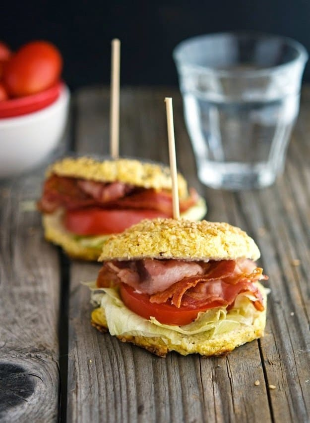 Cauliflower bagel BLT