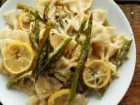 Creamy vegan lemon and asparagus pasta 200x150 15 Healthier Pasta Recipes That Still Taste Delicious