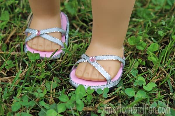 Criss-crossed sandals